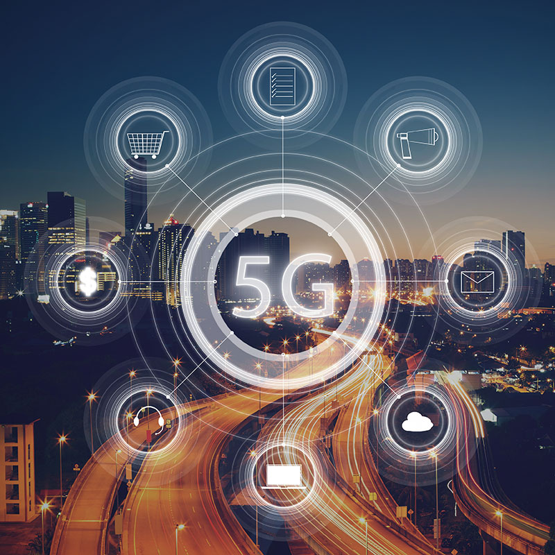 Infographic of 5G wireless system