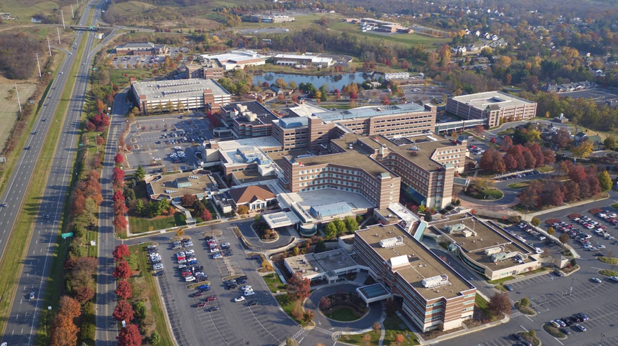 aerial view of Winchester Medical Center Campus in Virginia